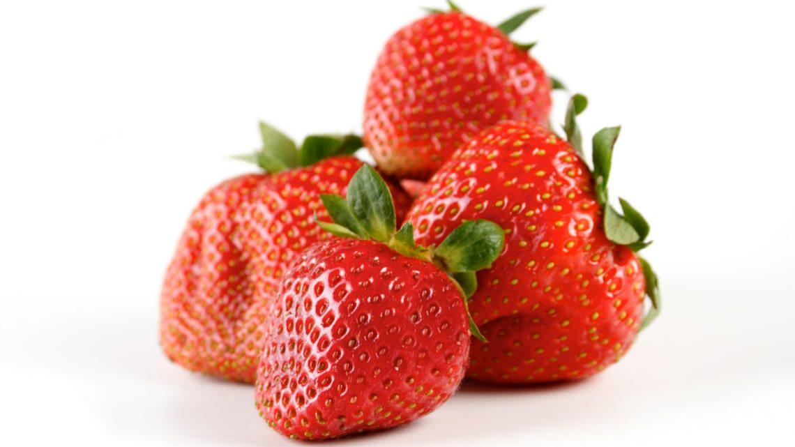 een aantal aardbeien