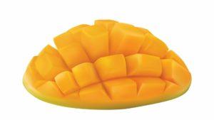 een opengesneden mango